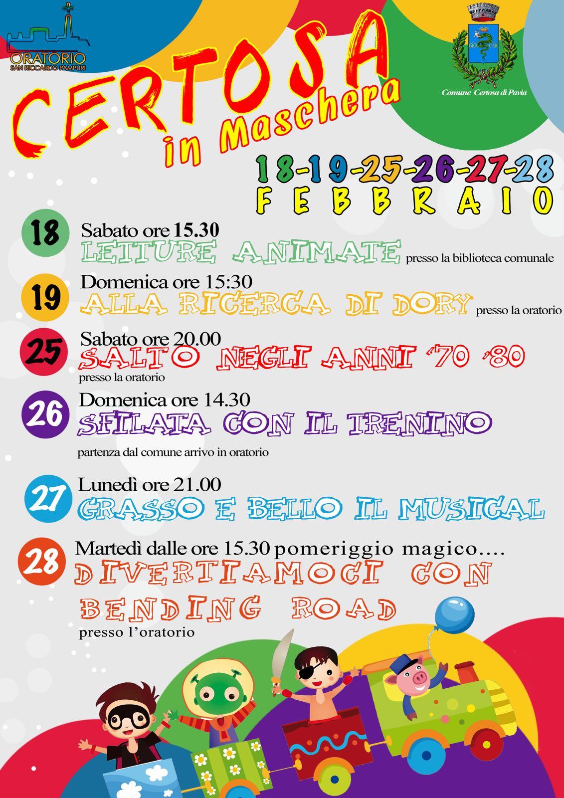 Eventi per Carnevale 2017 a Certosa di Pavia