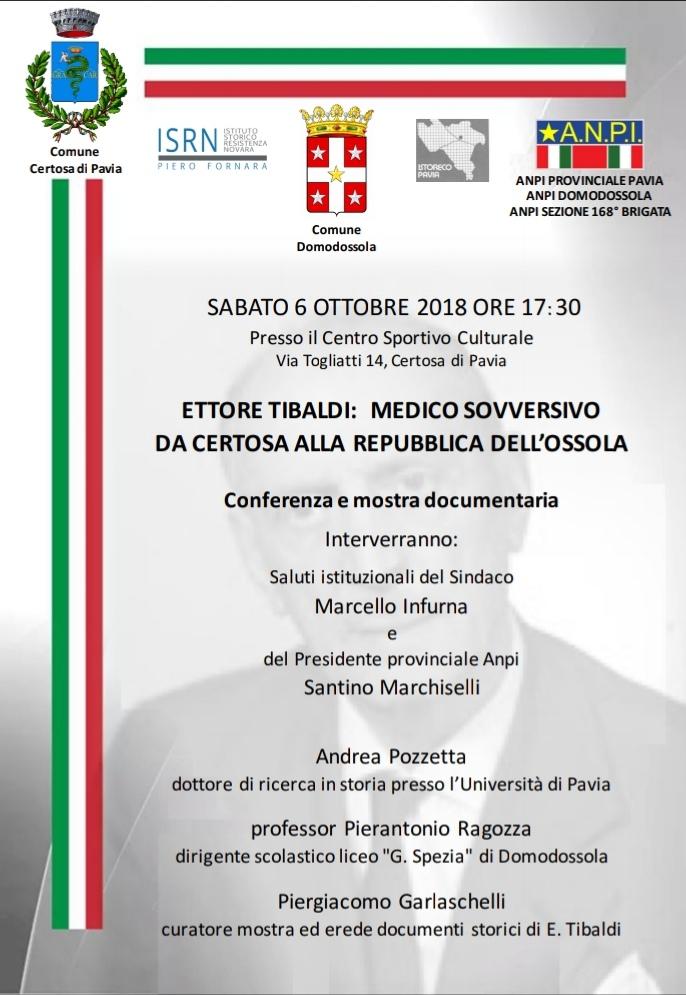 Ettore Tibaldi 06 ottobre 2018