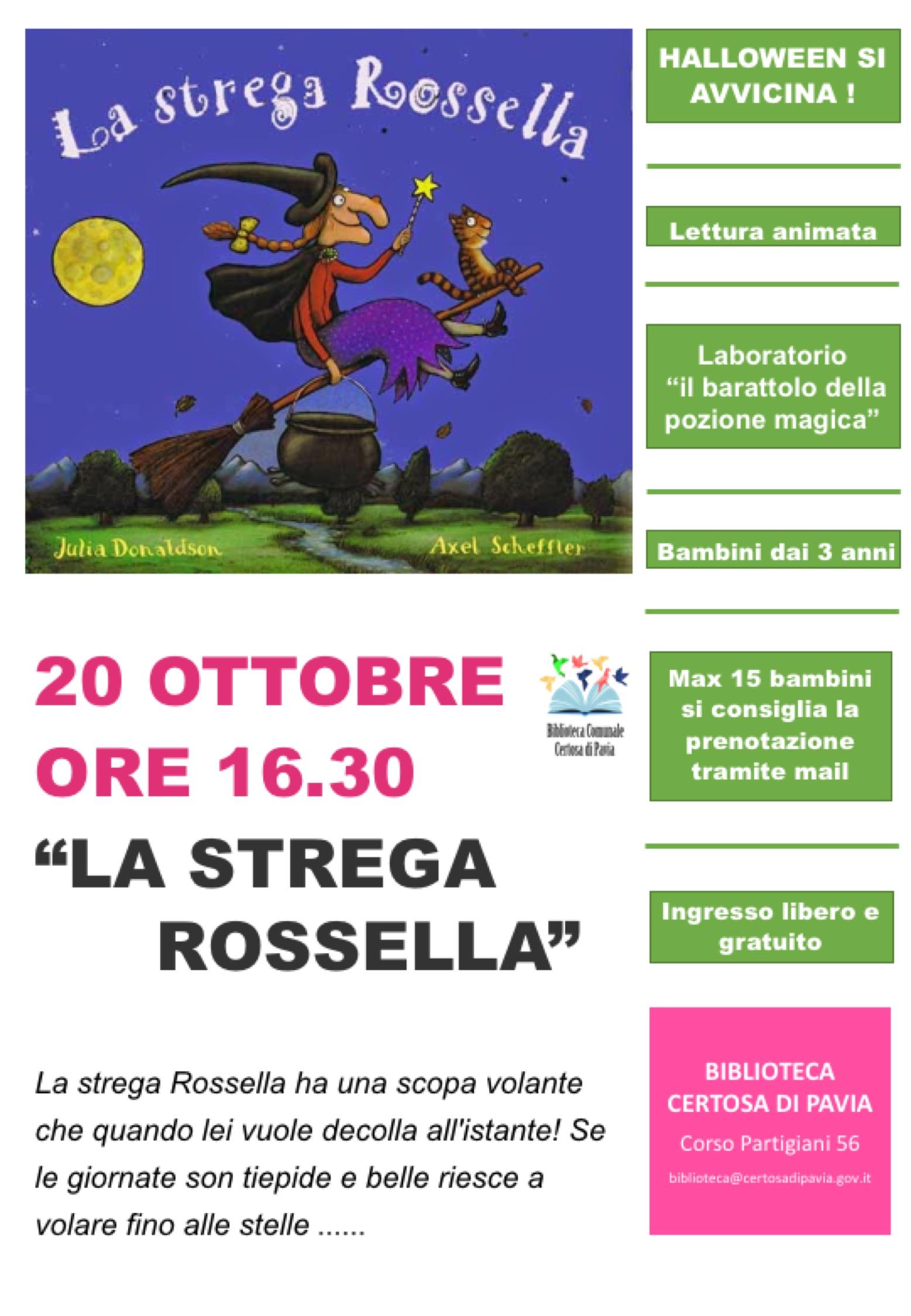 La Strega Rossella 20 ottobre 2018