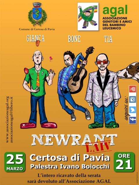 Newrant a Certosa di Pavia il 25 marzo 2017
