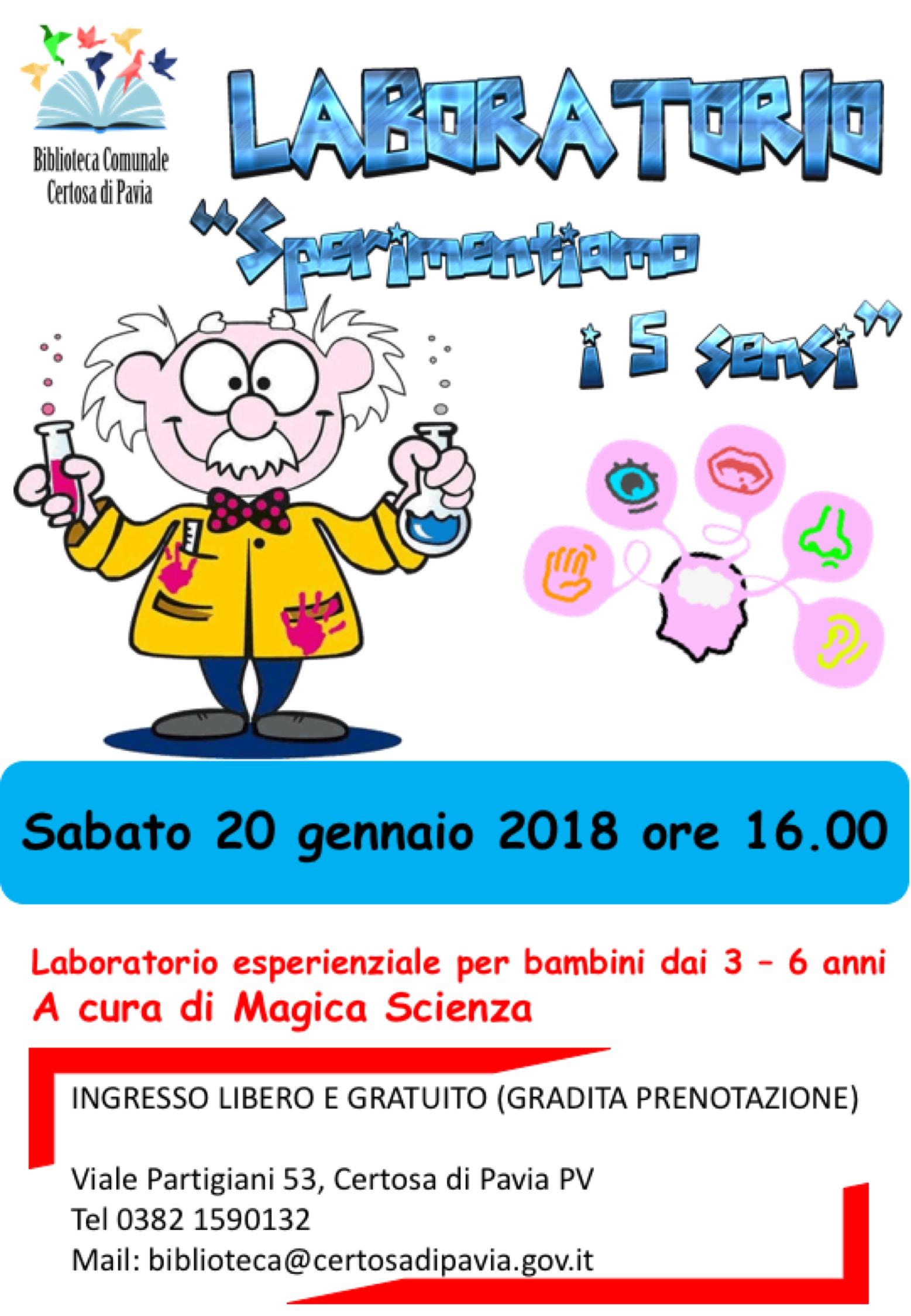 Magica Scienza 20 gennaio 2018