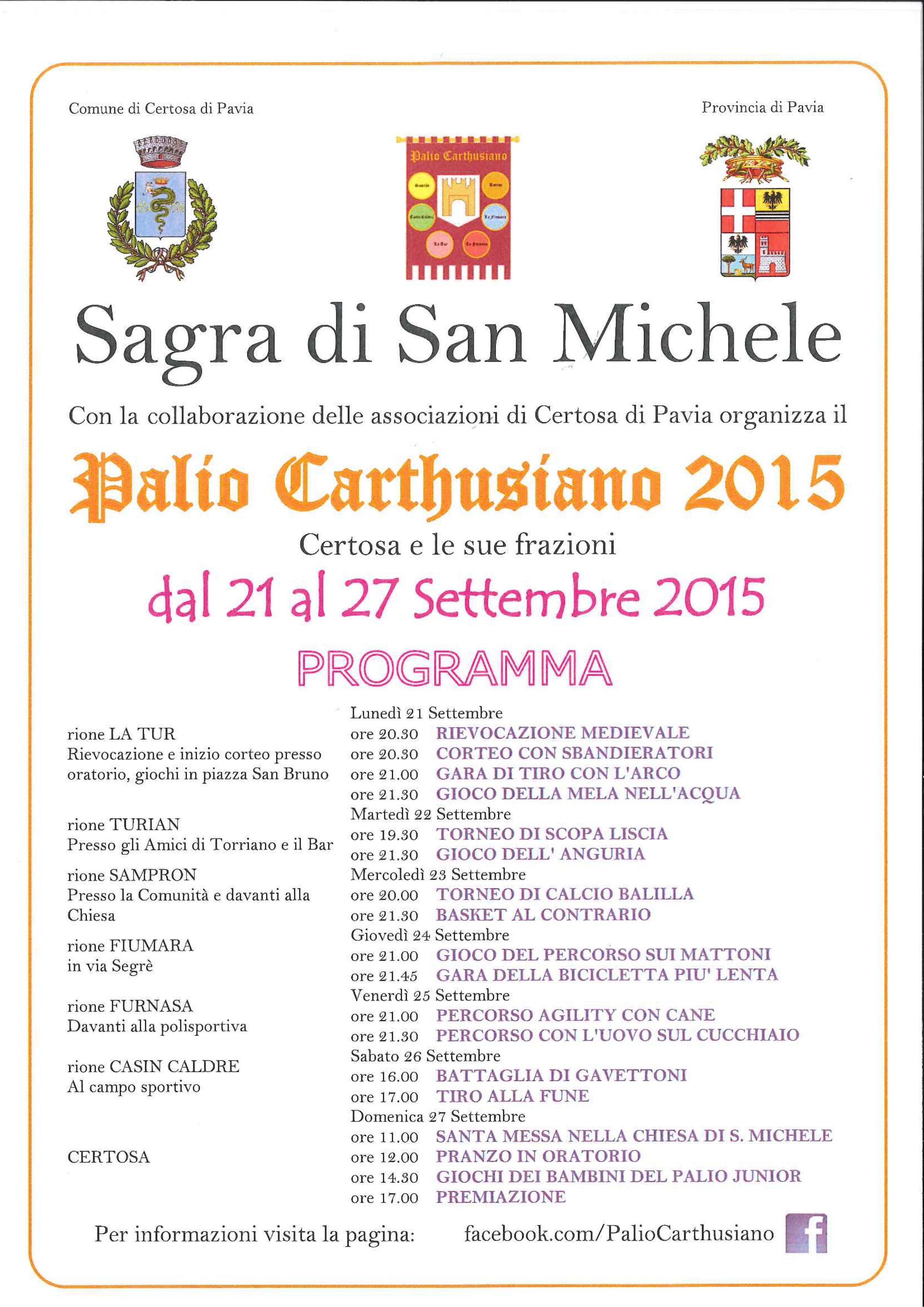 Sagra di San Michele - Palio Carthusiano 2015