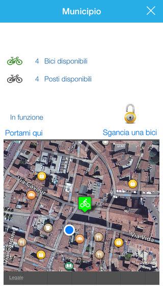 L'APP di Bicincittà per iOS