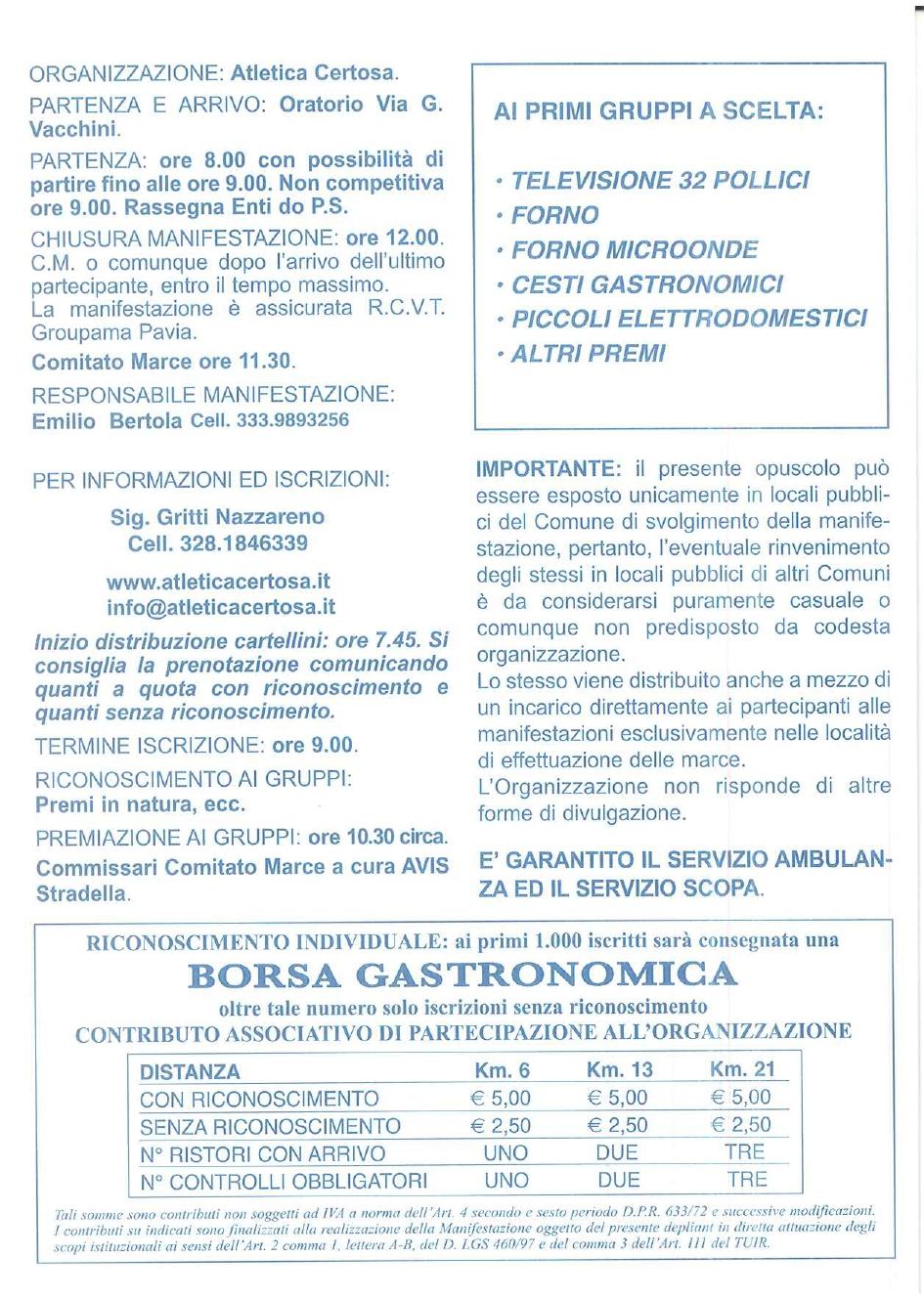 37ma  Caminada in cumpagnia - 24 marzo 2019 - Certosa di Pavia